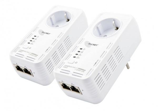 ALLNET ALL1681205 / 1200Mbit HomePlugAV2 2er Bundle Adapter