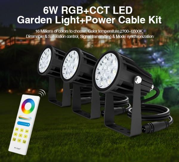 Synergy 21 LED Garten Lampe 6W RGB-WW Set mit 3 Stück IP65 *Milight/Miboxer*
