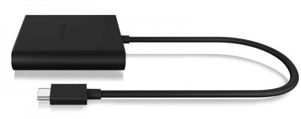 ICY Box Splitter, USB Type-C, 1x in/2x out HDMI, IB-SPL1028-C, Grafik-Splitter
