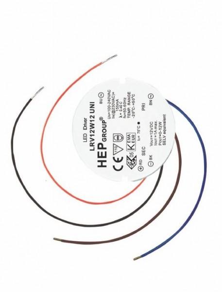 HEP Netzteil - 24V 12W - rund für Unterputzdose