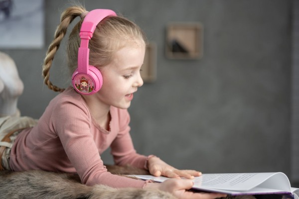Onanoff Kopfhörer für Kinder | Homeschooling | Bluetooth| Pink