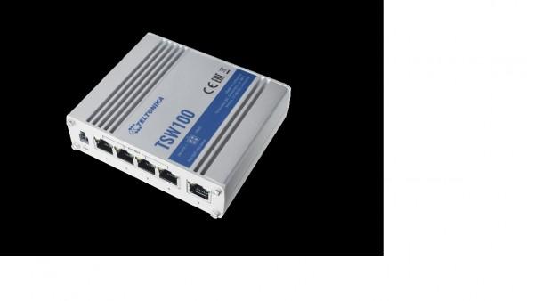 Teltonika TSW100 5 Port Gigabit Industrial unmanaged POE Switch