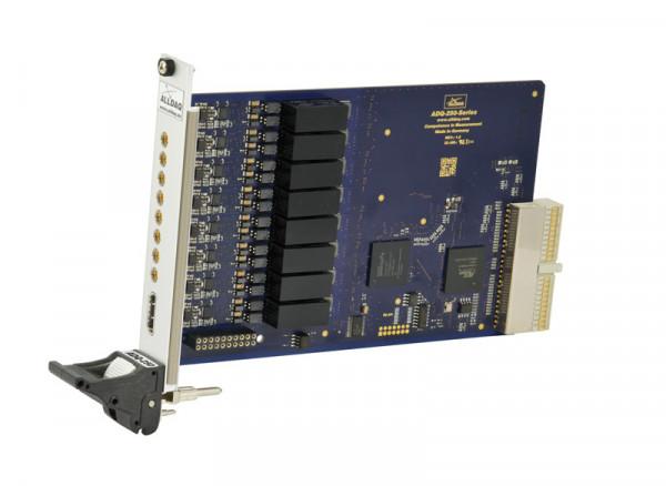 ALLDAQ ADQ-255-cPCI / CompactPCI-Messkarte mit 8 potentialfreien Spannungseingängen, 16 bit A/D-Wandler bis 250 kS/s synchron, ext. Trigger, 8 Digital