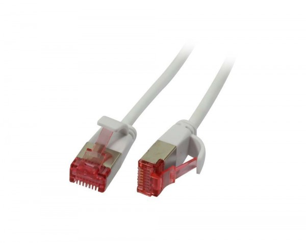 Patchkabel RJ45, CAT6 250Mhz, 2m weiss, U/FTP, slimline rund d=3,6mm, Synergy 21
