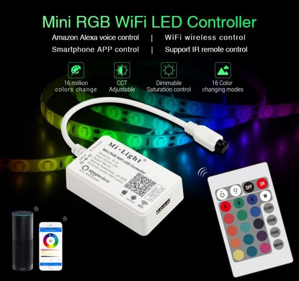 Mini RGB Led Streifen Kontroller mit Alexa,Wifi//App...