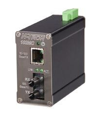 Red Lion 102MCE-ST-80 - Industrial Media Converter (10/100BaseTX to 100BaseFX), ST 80km