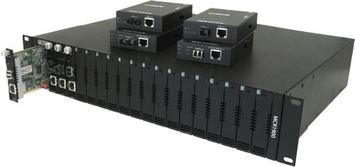 Perle Medien Konverter 1000 LC/LC Multimode 2km