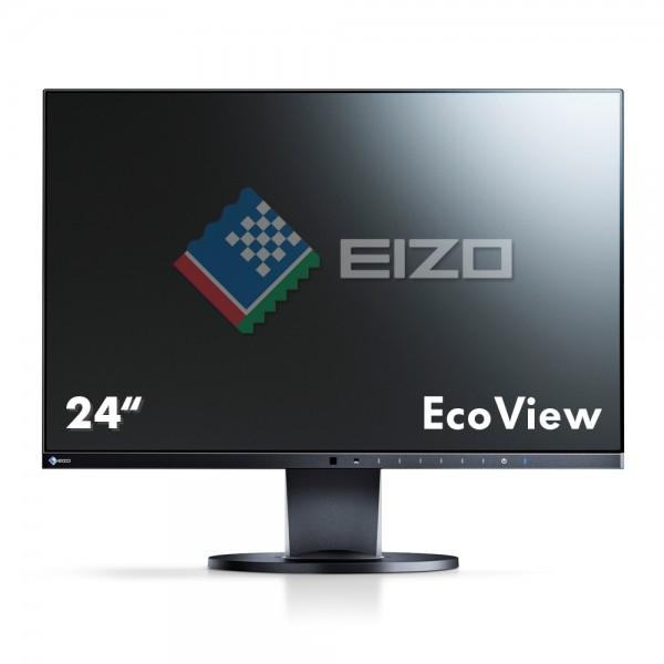 """Eizo FlexScan EcoView UltraSlim EV2450-BK Monitor schwarz 24""""Zoll, IPS-Panel"""