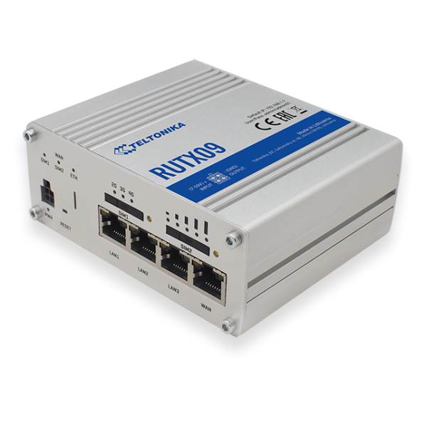"""Teltonika RUTX09 Industrial LTE Modem Router Cat6 """"ONLY LAN"""" 300Mbps Down/42Mbps UP **used**"""
