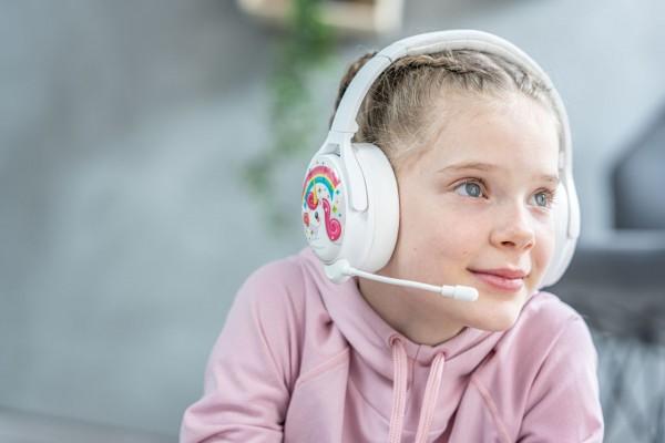 Onanoff Kopfhörer für Kinder   Konzentration   Geräuschunterdrückung   Bluetooth   Weiß
