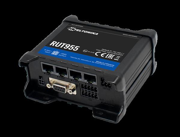 "Teltonika RUT955 LTE Modem Router/WLAN/IO Ports & GPS 100Mbps Down/ 50Mbps Upl. ""DIN & Terminal-Block"""