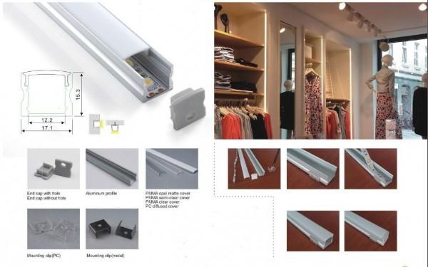 Synergy 21 LED U-Profil 200cm, ALU004-RL