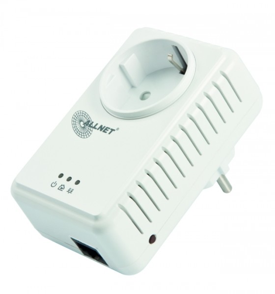 ALLNET Schweiz Powerline 500Mbit 1er Bridge RJ45 ALL168255 Homeplug AV Passthrough - max. 8 Nodes