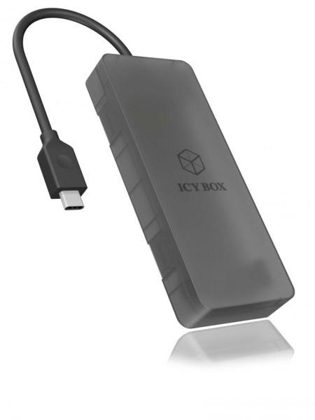 ICY Box Gehäuse, M.2 SATA SSD-> USB 3.1 (Gen2)Type-C, IB-185M2,
