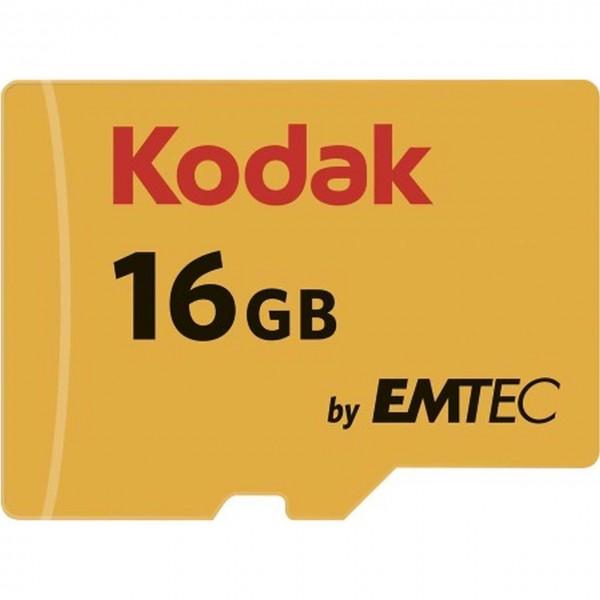 Flash SecureDigitalCard (SD) 16GB *Kodak* microSDHC - Class 10 + Adapter
