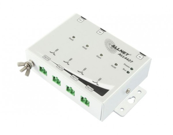 ALLNET ALL4427 / Relais output 4 Port 250V / 10A in metal ca