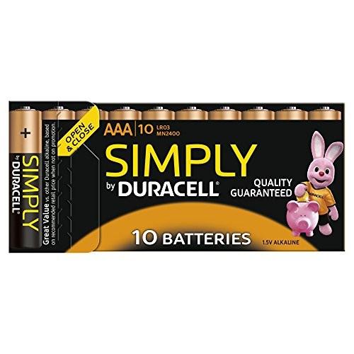 Batterien Micro AAA 1,5V *Duracell* Simply - 10er Pack