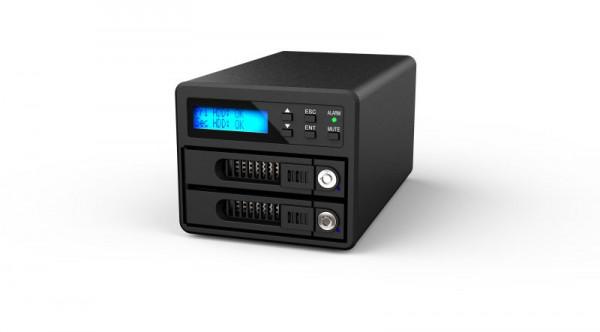 "Raidon Raid Subsystem, SATA 2, 5/3, 5"" 2x->SATA, GR3680-SB3, UASP Unterstützung,"