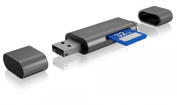 ICY Box Adapter, USB Type C/A/Micro B, mit SD-Kartenleser, IB-CR201-C3,