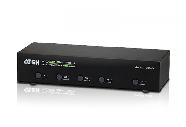 Aten Video Switch, 4xInput, 1xOutput, Audio