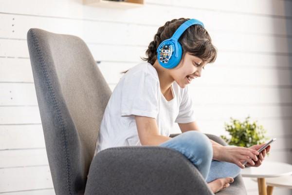 Onanoff Kopfhörer für Kinder   Konzentration   Geräuschunterdrückung   Bluetooth   Hellblau