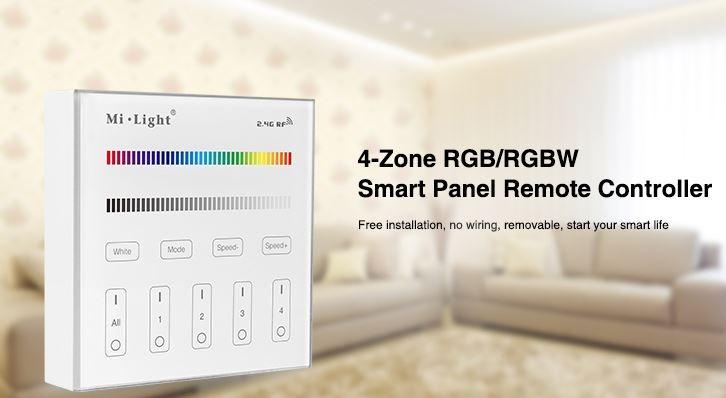 RGB-CCT LED-Flächenstrahler IP65 50W steuerbar über MiLight