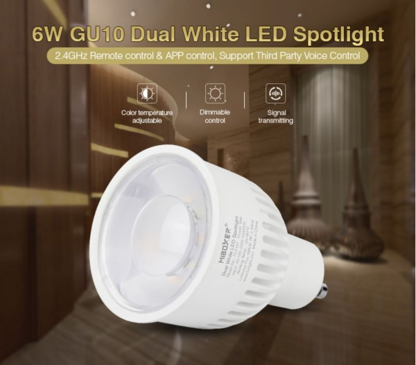 Synergy 21 LED Retrofit GU10 6W GU10 Dual White LED Spotlight *Milight/Miboxer*